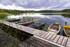 Boote am Poviestsee